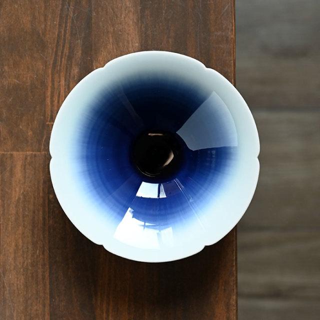 流彩磁鉢5寸(YN-023) 作家「永草陽平」
