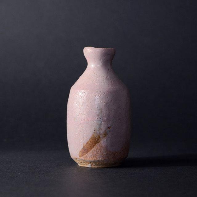 茜志野草文徳利(共箱付A) 作家「瀬津義雄」