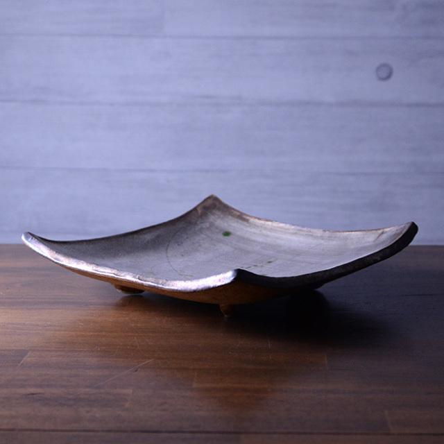 銀彩四方皿(YS-1634) 作家「瀬津義雄」