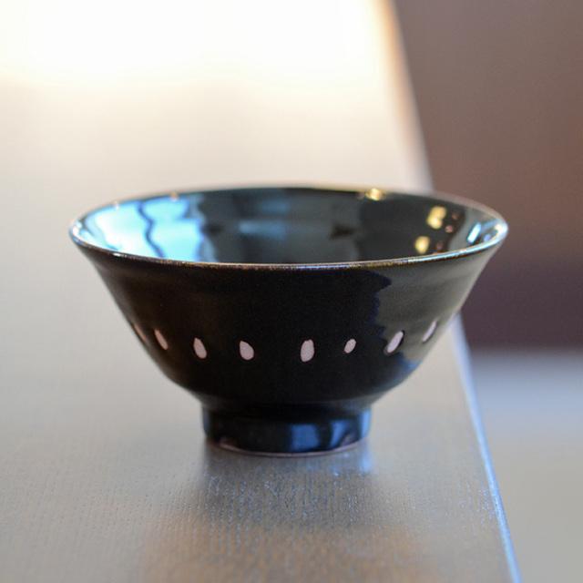 和食器 天目釉ご飯茶碗 作家「多屋嘉郎」