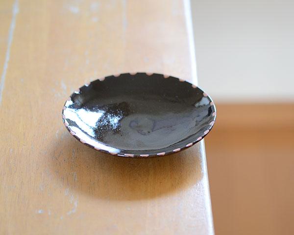 和食器 天目釉銘々皿 作家「多屋嘉郎」