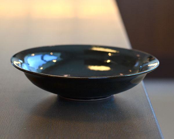 和食器 天目釉カレー皿 作家「多屋嘉朗」