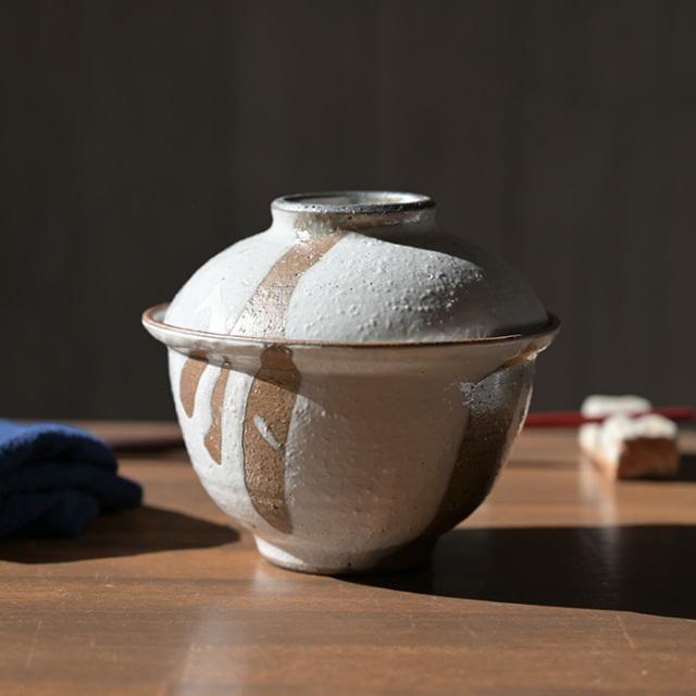 和食器 白化粧掛分蓋茶碗