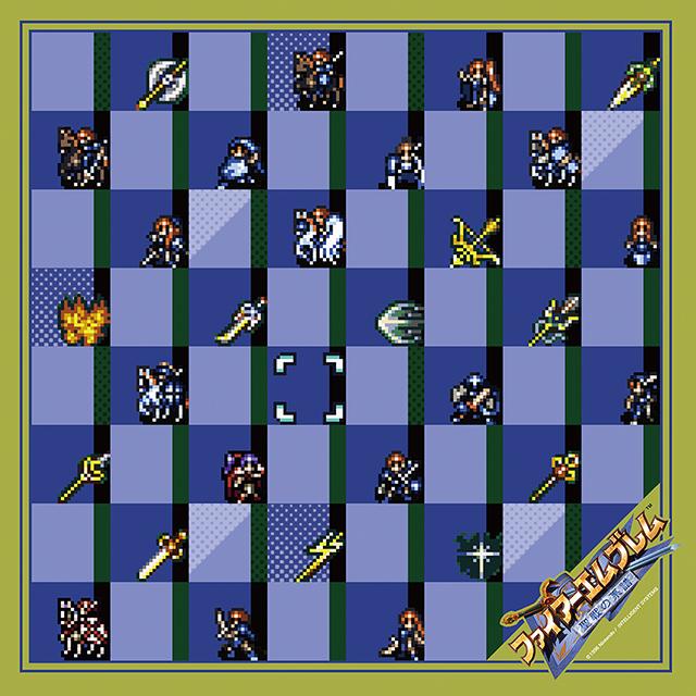 【EXPO II 通販】ファイアーエムブレム 聖戦の系譜 ドットキャラクターズスカーフ(ポストカード付)