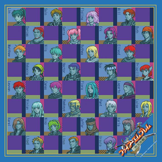 【EXPO II 通販】ファイアーエムブレム 烈火の剣 キャラクターズスカーフ(ポストカード付)