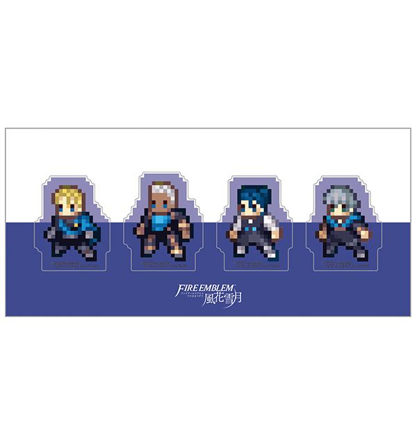 ファイアーエムブレム 風花雪月 クリアクリップ4個セット/青獅子の学級A(ディミトリ、ドゥドゥー、フェリクス、アッシュ)