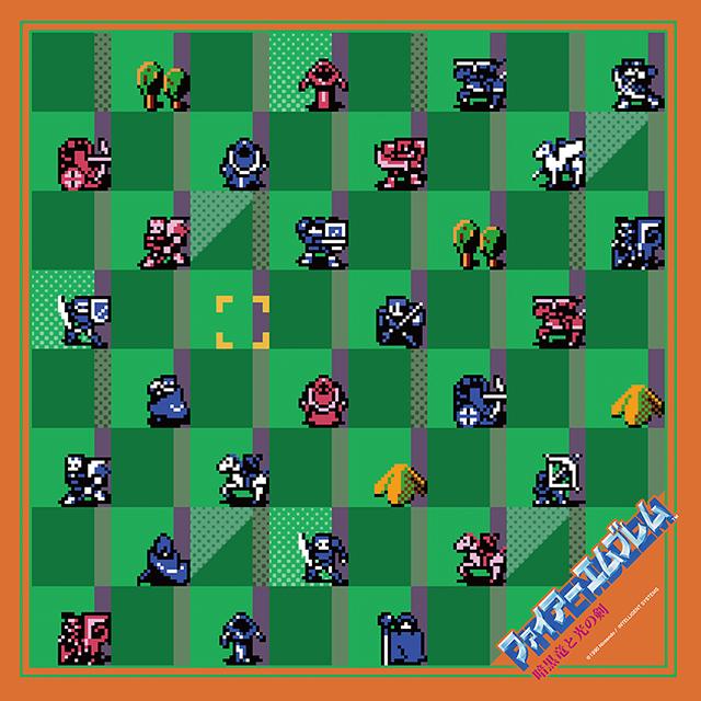 【EXPO II 通販】ファイアーエムブレム 暗黒竜と光の剣 ドットキャラクターズスカーフ(ポストカード付)