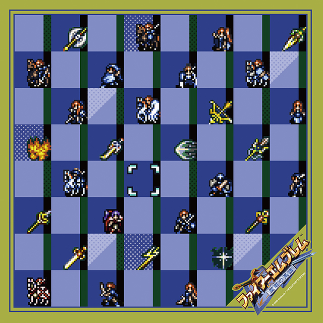 【EXPO II 事前通販】ファイアーエムブレム 聖戦の系譜 ドットキャラクターズスカーフ(ポストカード付)