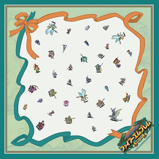 【EXPO II 通販】ファイアーエムブレム 聖魔の光石 ドットキャラクターズスカーフ(ポストカード付)
