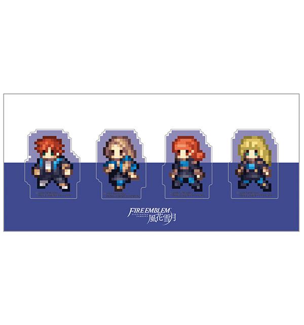 ファイアーエムブレム 風花雪月 クリアクリップ4個セット/青獅子の学級B(シルヴァン、メルセデス、アネット、イングリット)