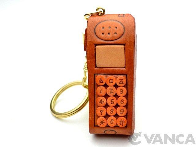 VANCA 本革レザーキーホルダー携帯電話
