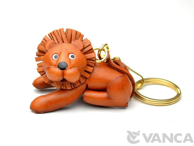 VANCA 本革レザーキーホルダー ライオン