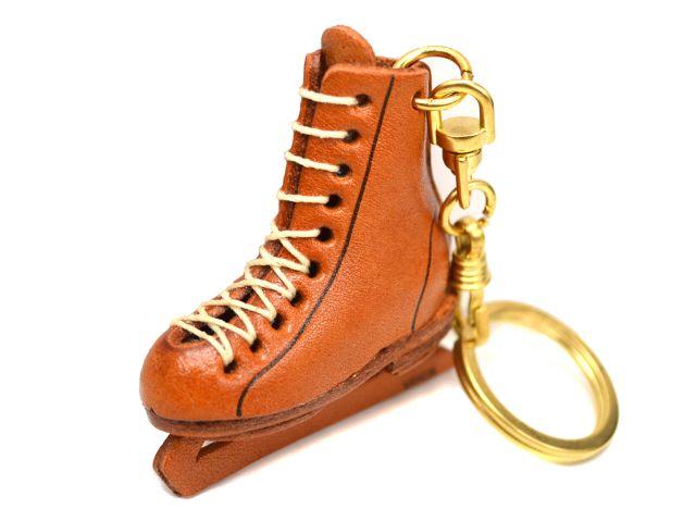 VANCA 本革レザーキーホルダー フィギュアスケート靴
