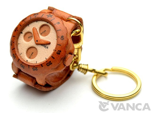 VANCA 本革レザーキーホルダー 腕時計
