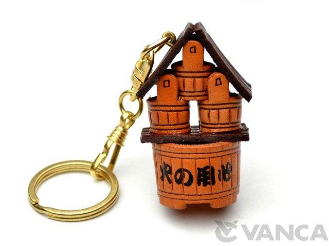 VANCA 本革レザーキーホルダー 火の用心