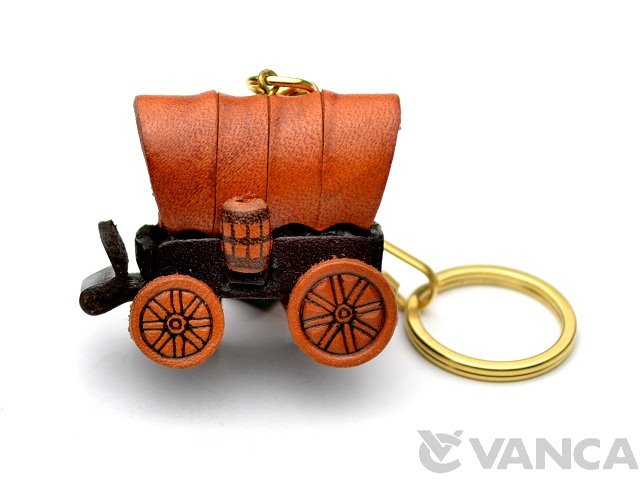 VANCA 本革レザーキーホルダー 幌馬車