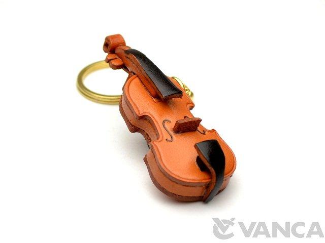 VANCA 本革レザーキーホルダーバイオリン