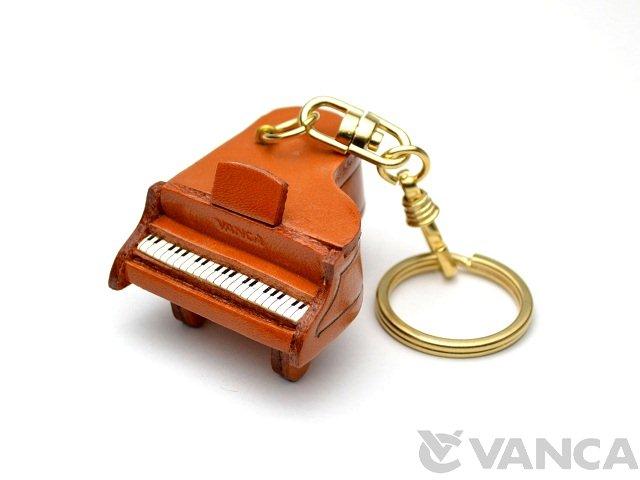 VANCA 本革レザーキーホルダー ピアノ