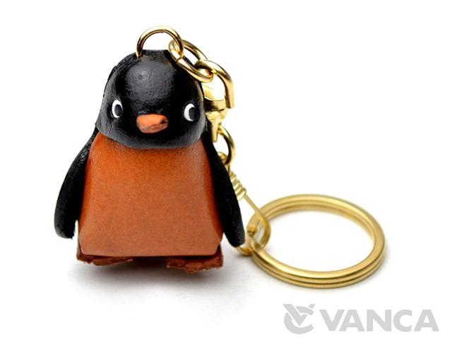 VANCA 本革レザーキーホルダー ペンギン