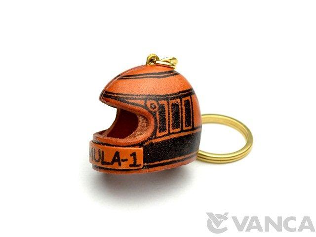 VANCA 本革レザーキーホルダー レーサーヘルメット