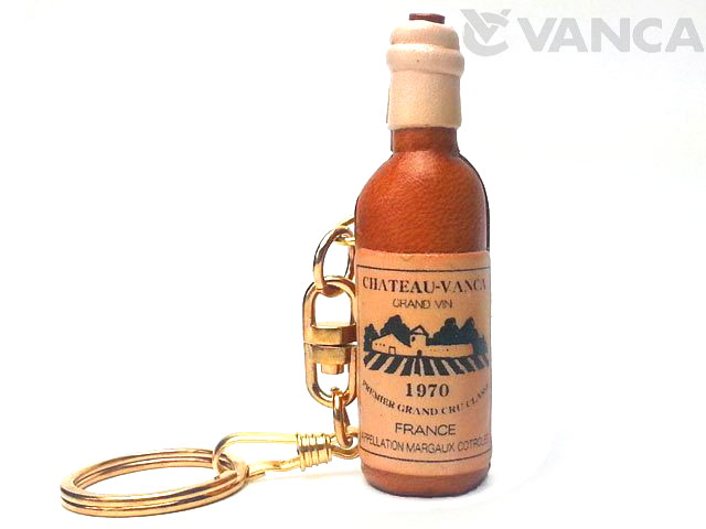 VANCA 本革レザーキーホルダー ワインボトル
