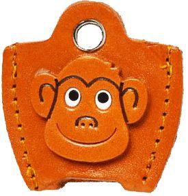 本革キーカバー猿
