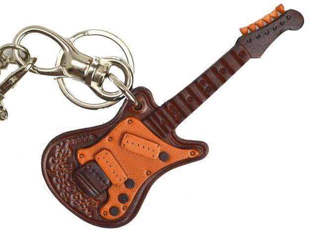 エレキギター 革雑貨 バッグチャーム キーホルダー VANCA バンカクラフト