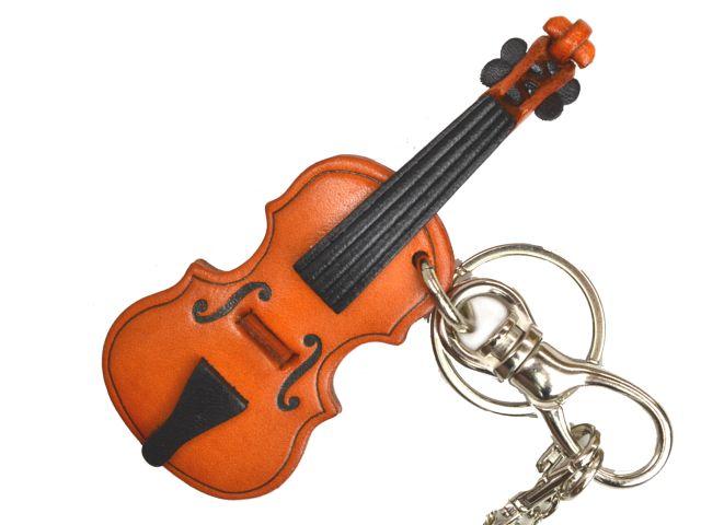 ヴァイオリン 革雑貨 バッグチャーム キーホルダー VANCA バンカクラフト