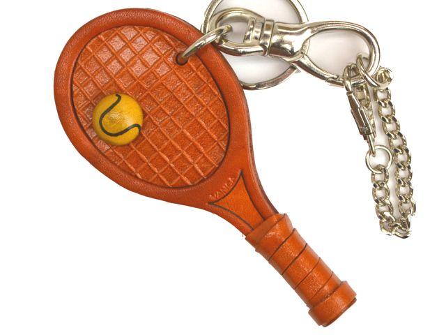 テニスラケット 革雑貨 バッグチャーム キーホルダー VANCA バンカクラフト