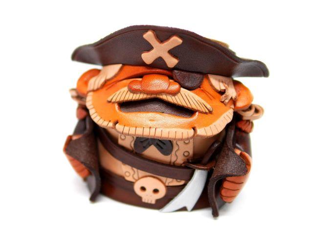 VANCA 本革製メガネ小物スタンド 海賊