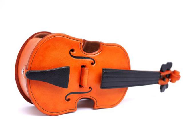 VANCA 本革製メガネ小物スタンド ヴァイオリン