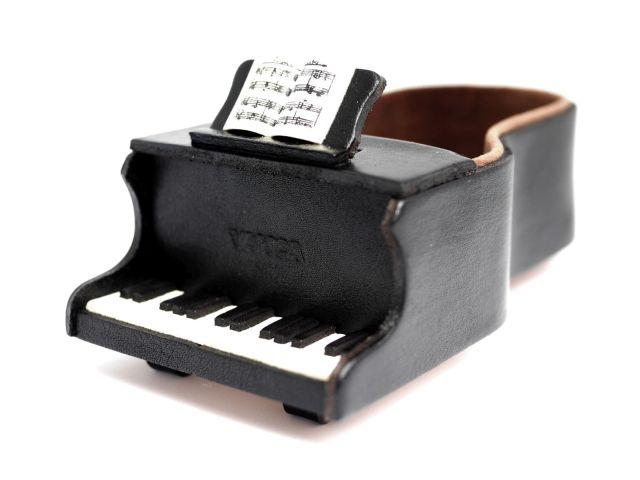 VANCA 本革製メガネ小物スタンド ピアノ