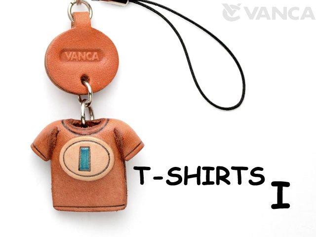 本革レザーTシャツ携帯ストラップ青 I
