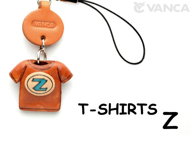 本革レザーTシャツ携帯ストラップ青 Z