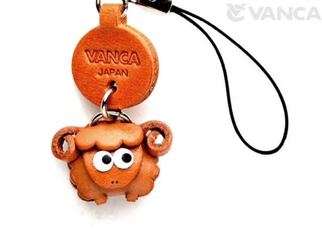 VANCA本革レザー干支マスコット携帯ストラップ 未