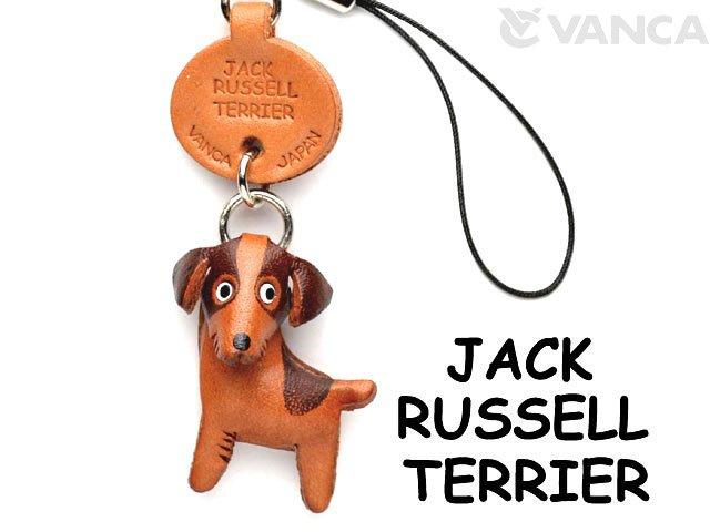 VANCA本革犬携帯ストラップ ジャックラッセルテリア