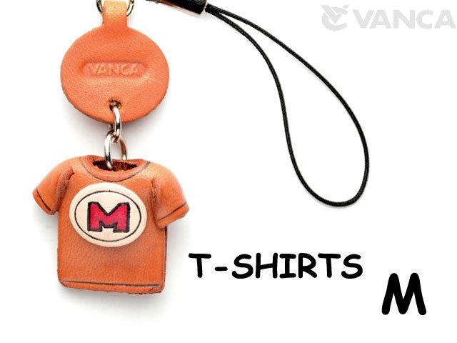 本革レザーTシャツ携帯ストラップ赤 M