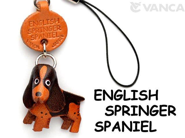 VANCA本革犬携帯ストラップ イングリッシュスプリンガー