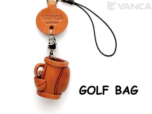 VANCA本革レザーグッズ携帯ストラップ ゴルフバッグ