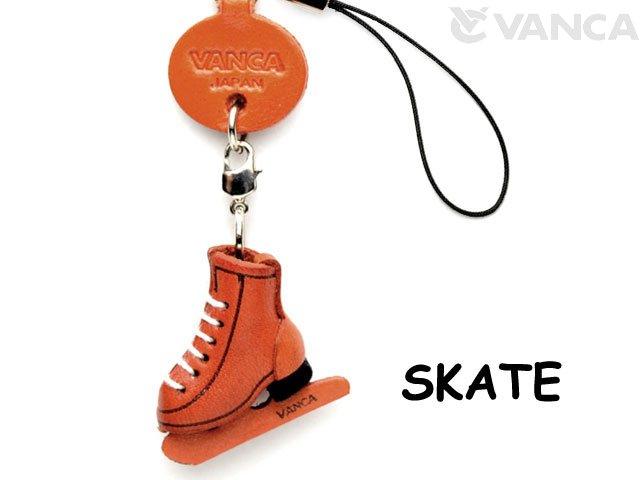 VANCA本革レザーグッズ携帯ストラップ スケート靴