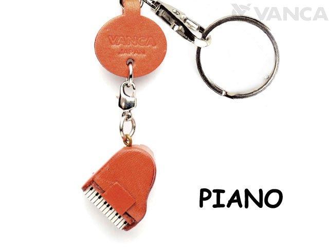 VANCA本革レザーグッズキーホルダー ピアノ