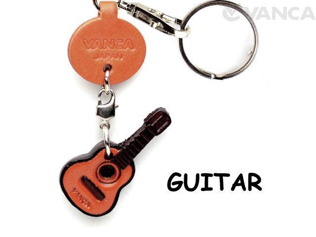 VANCA本革レザーグッズキーホルダー ギター