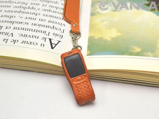 携帯電話 VANCA 本革チャームブックマーカー