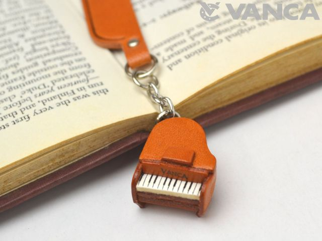 ピアノ VANCA 本革チャームブックマーカー
