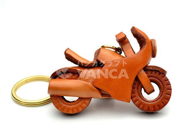 VANCA 本革レザーキーホルダーレーサーバイク