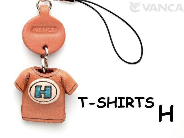本革レザーTシャツ携帯ストラップ青 H