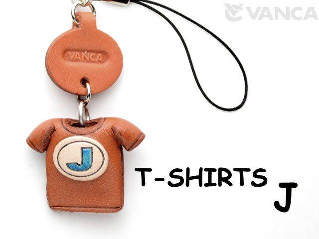 本革レザーTシャツ携帯ストラップ青 J
