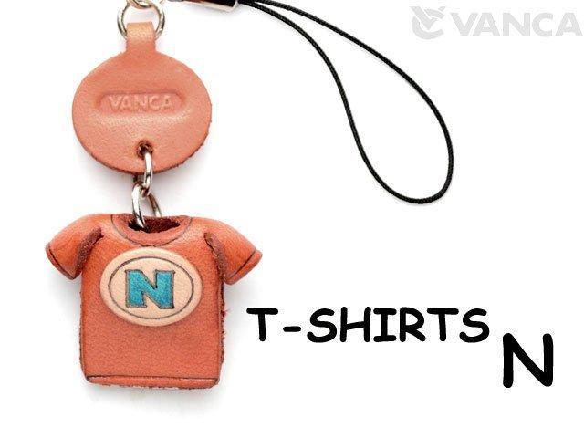 本革レザーTシャツ携帯ストラップ青 N