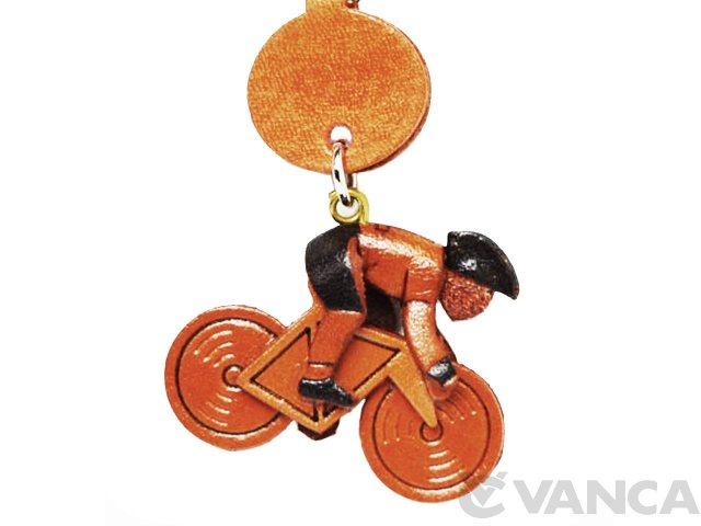 自転車レーサー VANCA 本革レザーグッズ 携帯ストラップ
