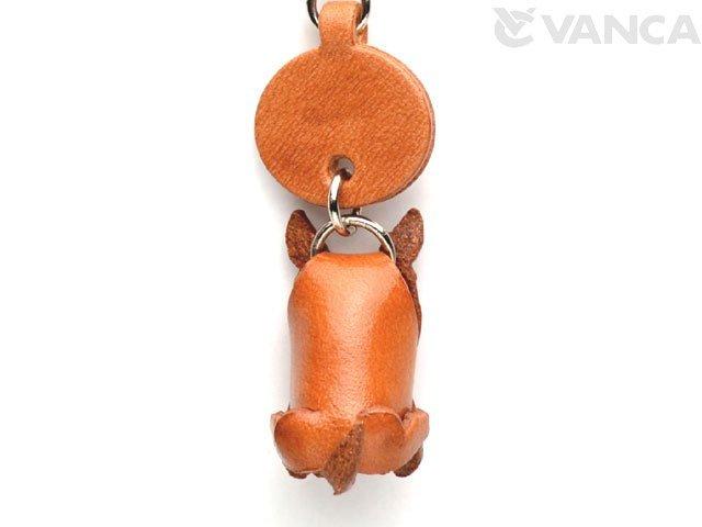 VANCA本革犬携帯ストラップ ブルテリア